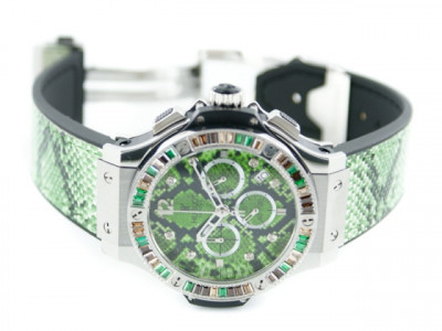 Hublot Big Bang 48mm Boa Bang Steel Green - ceas replica 1:1