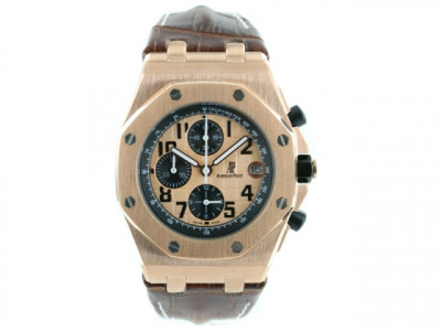 AUDEMARS PIGUET ROYAL OAK OFFSHORE REDGOLD LEATHER BROWN - Ceas replica 1:1