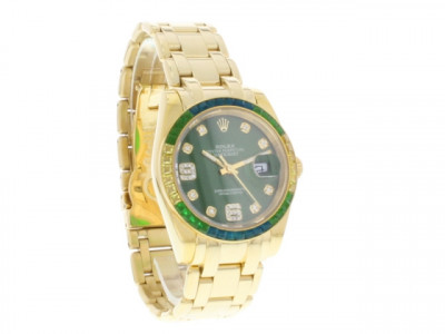 Rolex Datejust Pearlmaster 39 Oyster Gold / Green - ceas replica