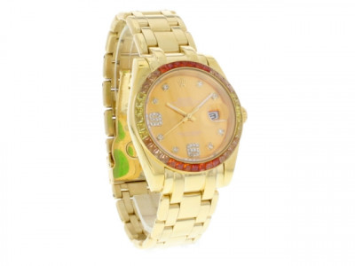 Rolex Datejust Pearlmaster 39 Oyster Gold / Red - Ceas