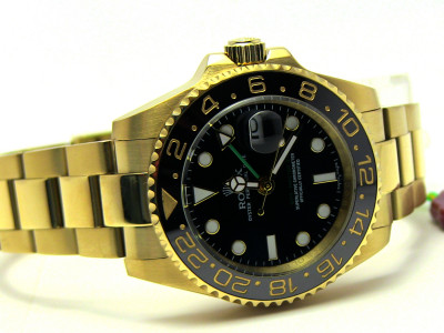 Rolex GMT Master ceramic - black Dial 18k - Ceas replica 1:1