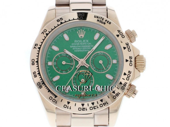 ROLEX DAYTONA GOLD ZIFFERNBLATT RACING GREEN