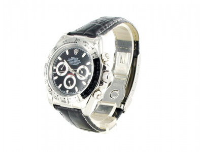 Rolex Daytona steelleather - black Dial - ceas replica 1:1